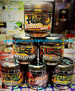 Assortment of Haze Tobacco flavors at Pars Market Columbia Howard County Maryland 21045