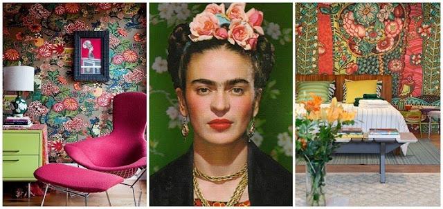 Frida Kahlo e as cores vibrantes na decoração