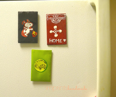 Green craft + credit card fridge magnets + cause magnets