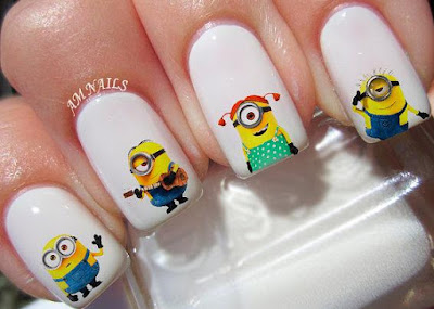 Minions Nail Decals