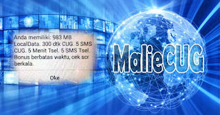 Paket Data CUG Telkomsel 1GB Full Service Malie CUG