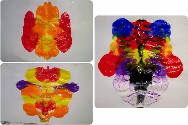 macchie di colore tempera per bambini