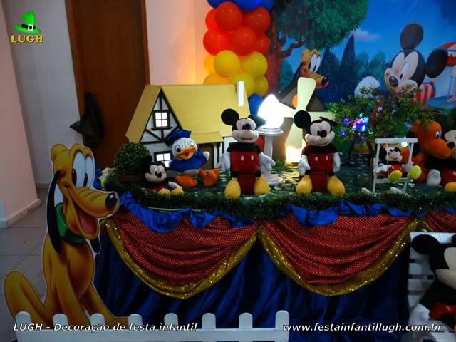 Decoração mesa de aniversário tema Mickey - Festa infantil
