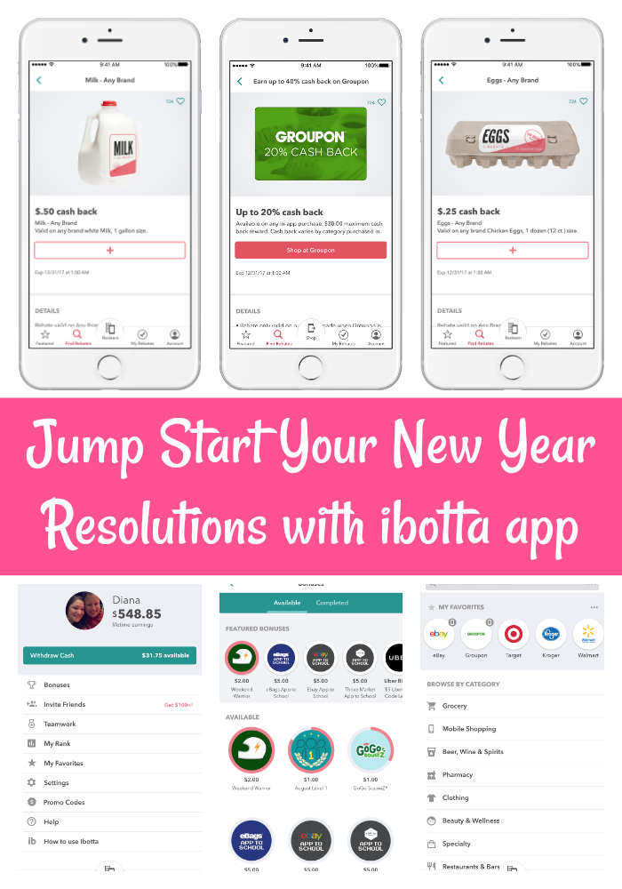 Jump Start Your New Year Resolutions with ibotta app