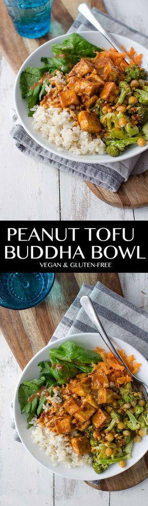 Peanut Tofu Buddha Bowl