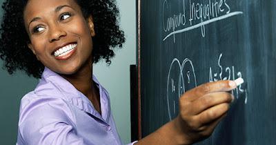 Black substitute teacher