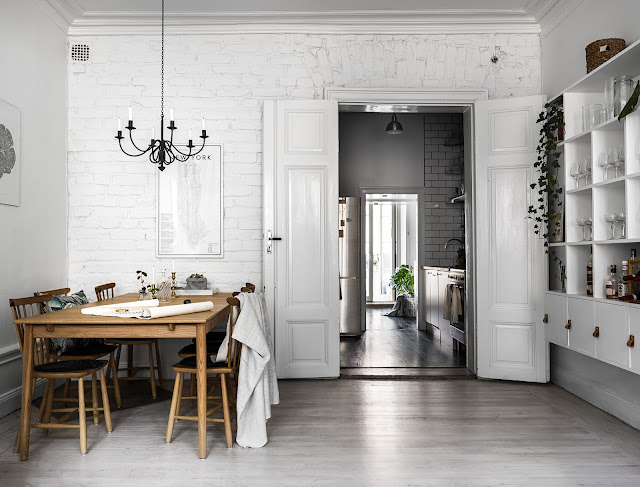 Magical light smaller scandinavian apartment