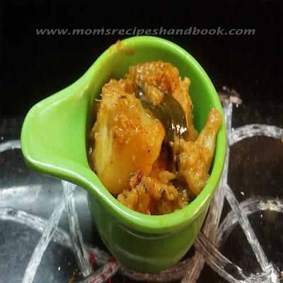 Andhra Style Potato and  Cauliflower Masala How to prepare