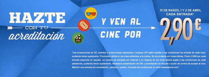 Vuelve la Fiesta del Cine con entradas a 2,90 euros