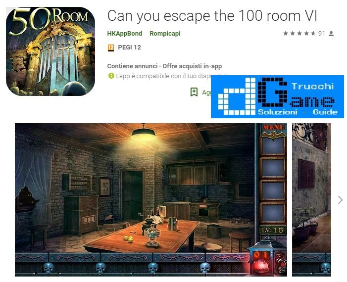 Soluzioni Can you escape the 100 room VI livello 1 2 3 4 5 6 7 8 9 10 | Trucchi e Walkthrough level