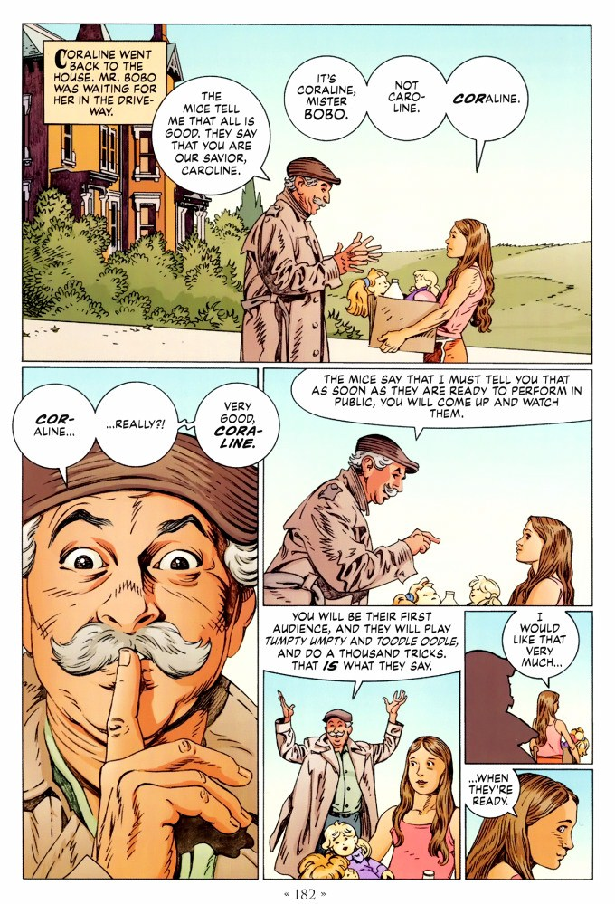 Read page 182, from Nail Gaiman and P. Craig Russell's Coraline graphic novel
