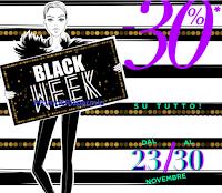 Logo Black Week Pittarello: scarica il coupon per il 30% di sconto su tutto
