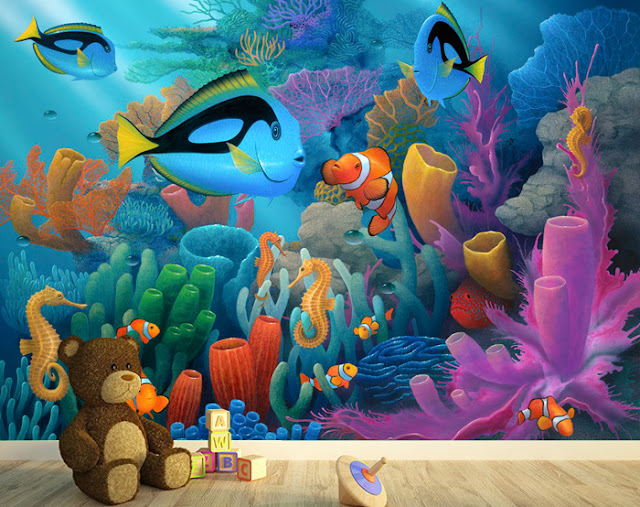 Lasten Tapetti Akvaario Kala