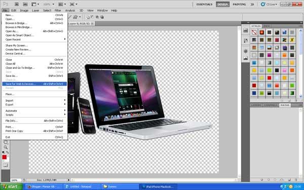 Cara mengecilkan ukuran gambar di Photoshop