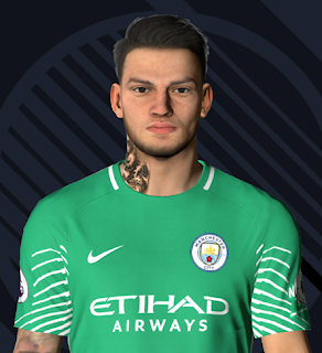 PES 2017 Faces Ederson Moraes by Ben Hossam FaceMaker