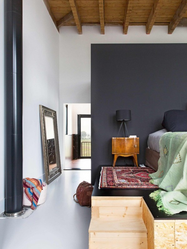 estructura de madera elevada para cama chicanddeco