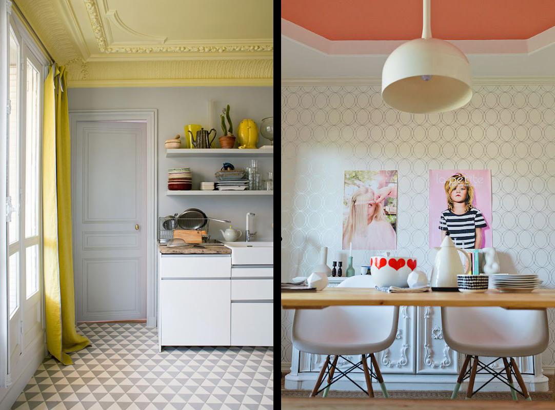 la fabrique d co peindre le plafond design color et original. Black Bedroom Furniture Sets. Home Design Ideas