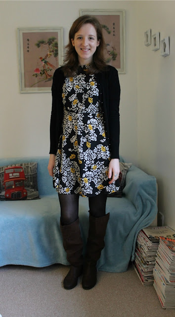 OOTD, Outfit Of The Day, Fashion, Fashion Blogger, Zara Dress, Marks & Spencer, Warehouse, H&M, New Look, Brown Boots, Floral Dress, AW15
