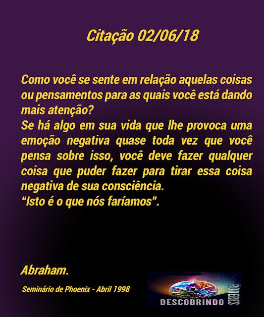 Citações Diárias Abraham Hicks - Citação do Dia 02/06/2018