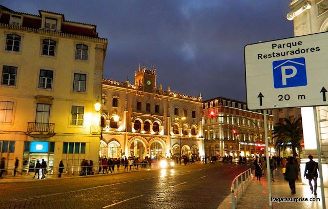 Estação do Rossio, Lisboa, de onde partem os trens para Sintra