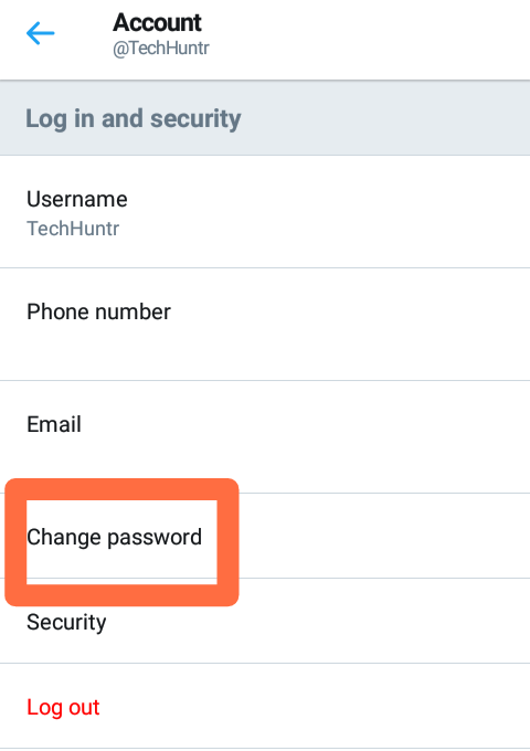 How To Change Twitter Password In Twitter Android App And On