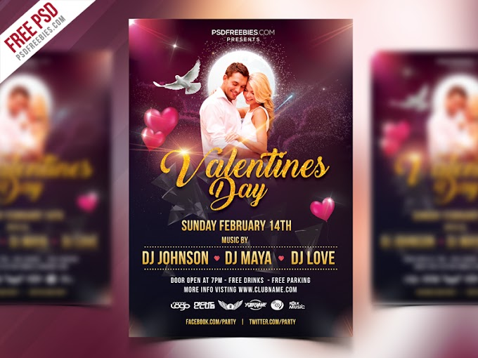 Valentines Day Flyer Design Free PSD