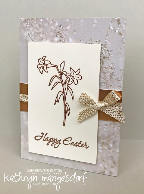 Stampin' Up! Easter Message, Easter Card created by Kathryn Mangelsdorf