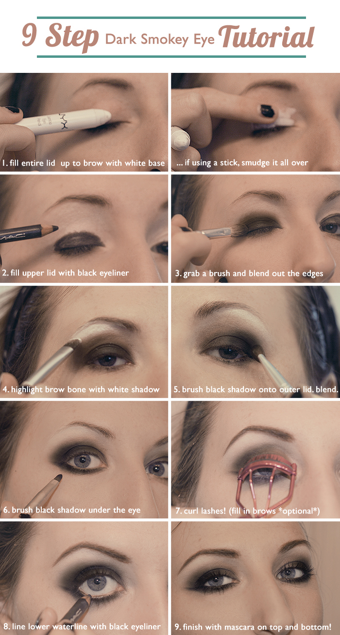 Smokey Eyeshadow Tutorial: 9 Step Dark Smokey Eye Tutorial
