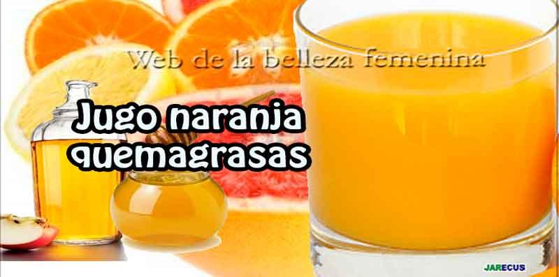 jugo quema grasa con naranja