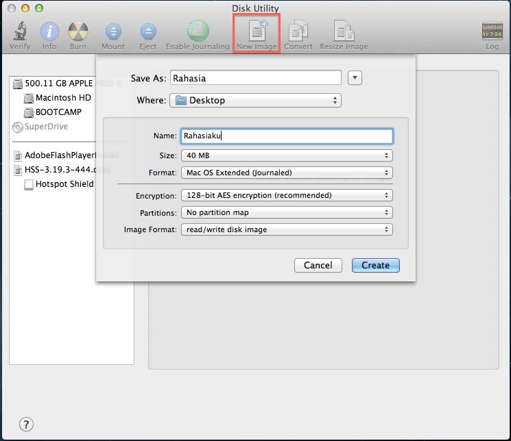Cara buat password di folder,tanya apple
