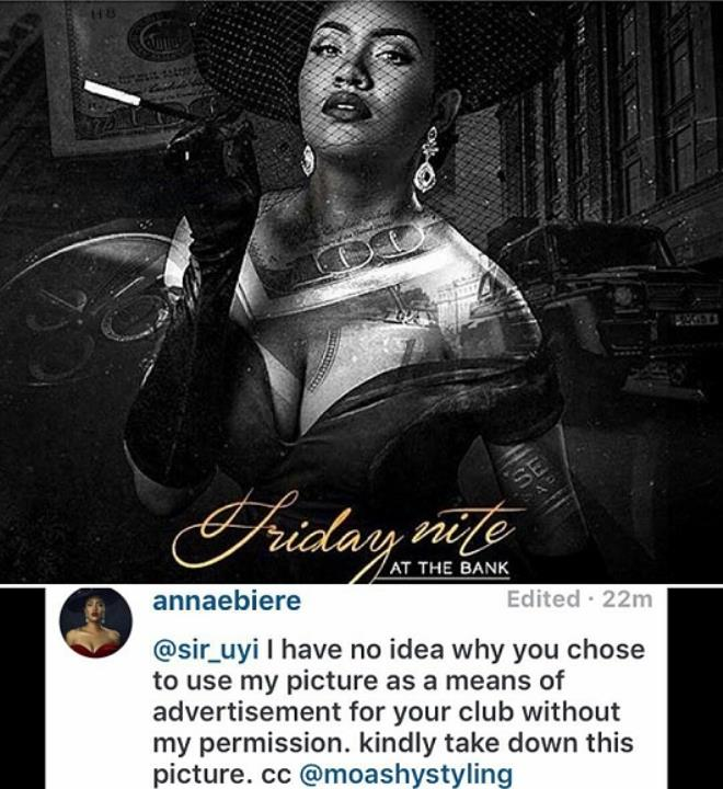 Fans blasts Anna Ebiere for complaining over illegal usage of her photo