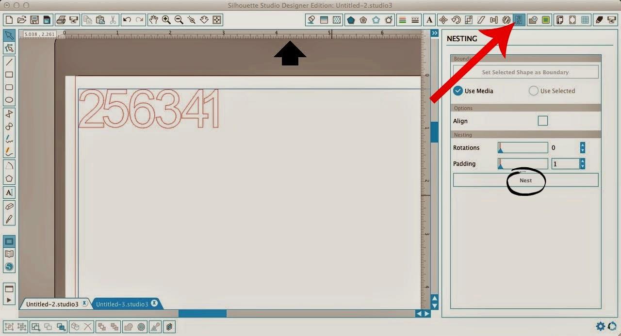 Nesting tool, Silhouette Studio, pro, Silhouette tutorial, icon