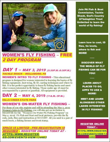 5-3/4 Women's Fly Fishing 2 Day Event