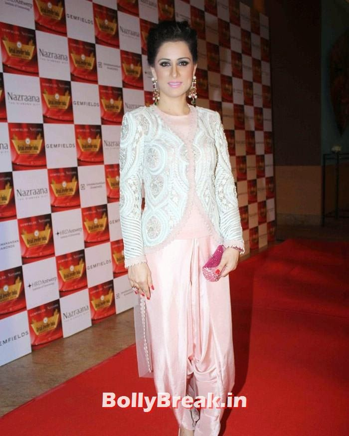 Rouble Nagi, Pics of Celebs in Sexy Dresses & Gowns at Gemfields & Nazraana Retail Jeweller India Awards 2014