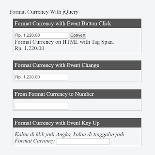 JQuery Format Currency