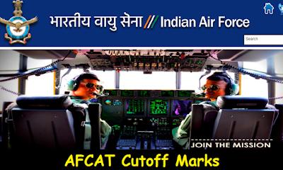 AFCAT 1 2016 Cutoff Marks