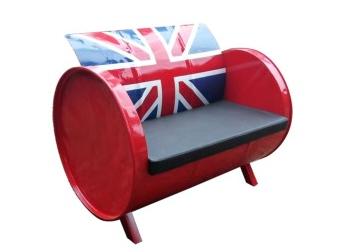 kursi sofa drum model bendera inggris