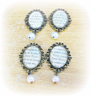 image jane eyre brooches brass brown glass pearl pink white charlotte bronte jewellery accessories two cheeky monkeys