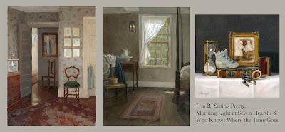 Interior painting, nostalgic still life