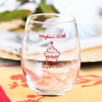 deco anniversaire verre a vin