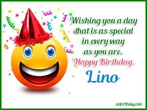 Happy Birthday Lino