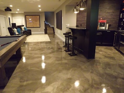 decorative metallic epoxy floor paint modern home flooring designs 2019