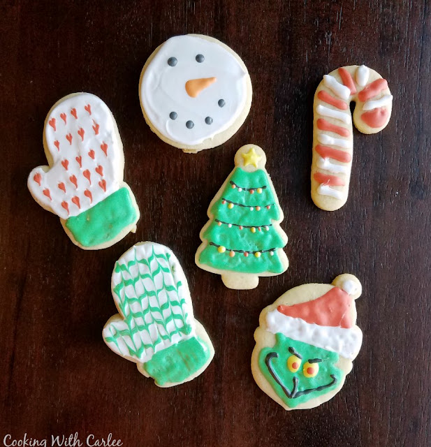 Christmas sugar cookies with royal frosting