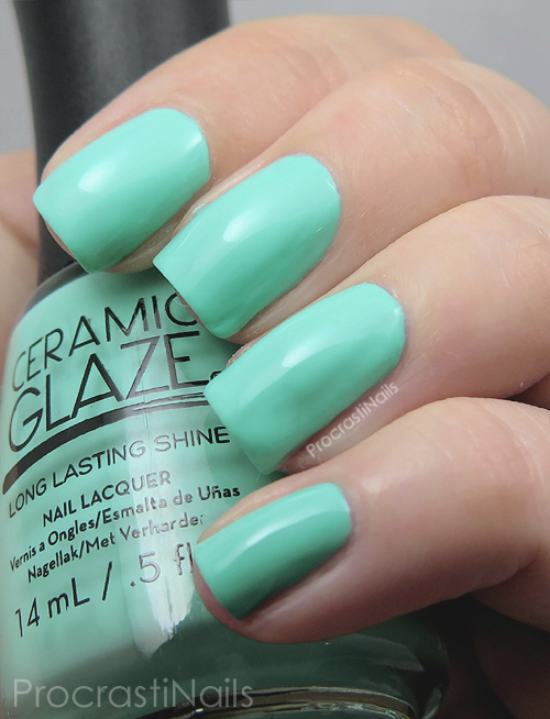 Swatch of the bright mint green Ceramic Glaze Surf's Up