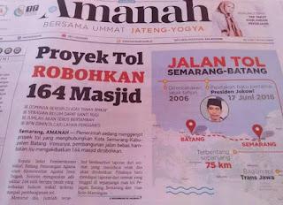 Waduh! Proyek Jalan Tol di Jawa Tengah Robohkan 164 Masjid