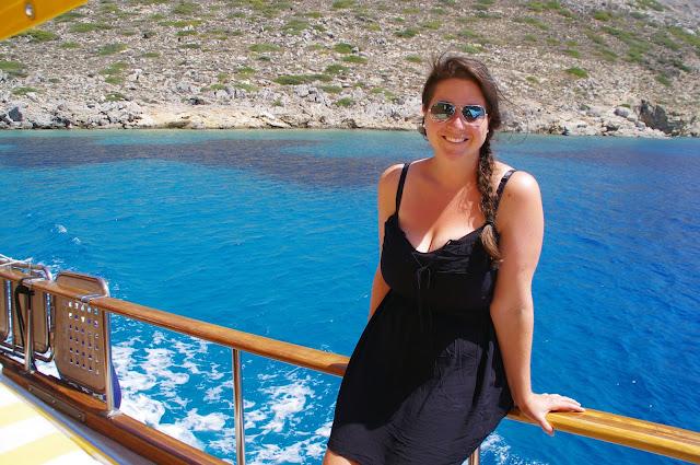 Girl sailing in Turkey