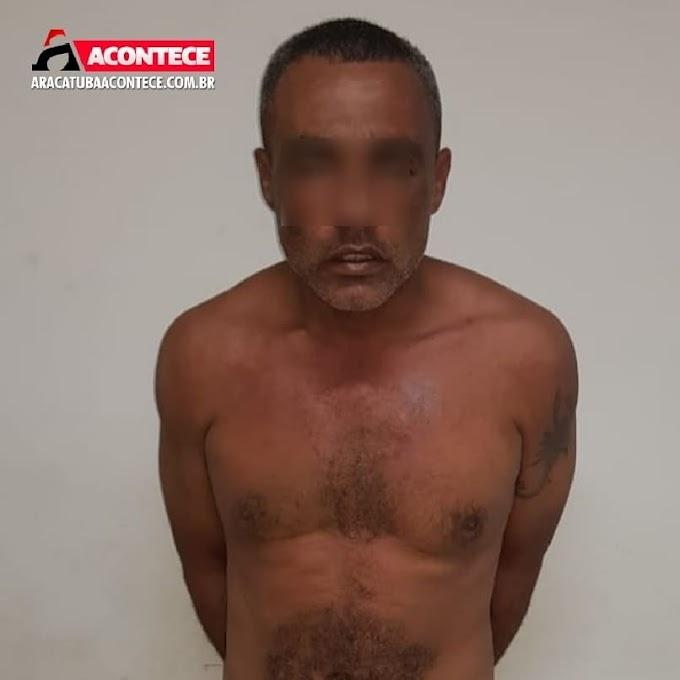 Foragido de penitenciária é capturado pela PM após bater na mulher em Araçatuba