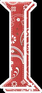 Abecedario Rojo con texturas. Red Alphabet with Textures.