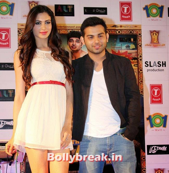Simran Kaur Mundi and Ashish Juneja, Simran Kaur Mundi sizzles in White Dress at Kuku Mathur Ki Jhand Ho Gayi Promotion