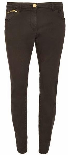 Pantalones skinny en negro con cremallera